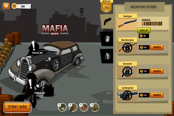 Mafia Wars 🕹️ 🏃 | Free Arcade Action Browser Game - Image 1