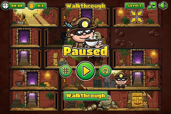 Bob The Robber 5 🕹️ 🗡️ | Free Adventure Arcade Browser Game - Image 2