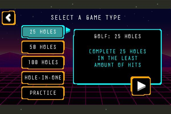 Arcade Golf NEON 🕹️ 👾 | Free Arcade Skill Browser Game - Image 1