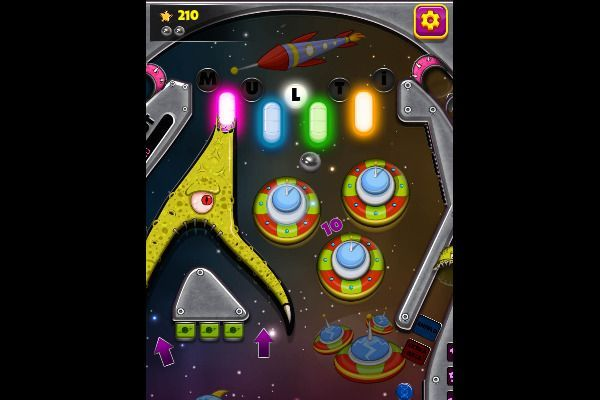 Space Adventure Pinball 🕹️ 👾 | Free Arcade Browser Game - Image 1