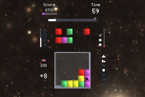 Star Cubes EVO 🕹️ 👾 | Free Puzzle Arcade Browser Game - Image 1