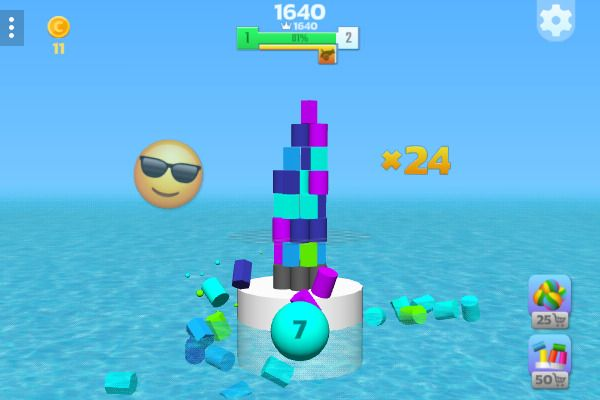 Tower Crash 3D 🕹️ 👾 | Free Skill Physics Browser Game - Image 2
