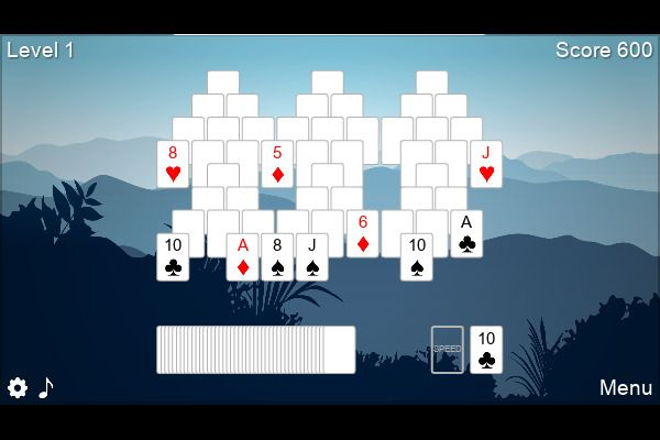 6 Peaks Solitaire 🕹️ 🃏 | Free Cards Puzzle Browser Game - Image 1