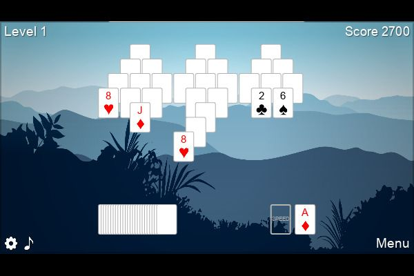 6 Peaks Solitaire 🕹️ 🃏 | Free Cards Puzzle Browser Game - Image 2