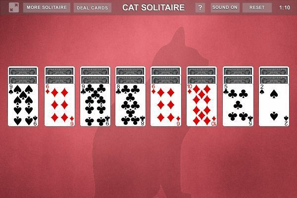 Cat Solitaire - Solitario 🕹️ 🃏 | Gioco per browser di carte - Immagine 1