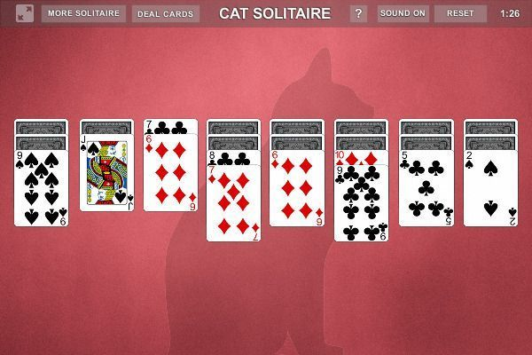 Cat Solitaire - Solitario 🕹️ 🃏 | Gioco per browser di carte - Immagine 2