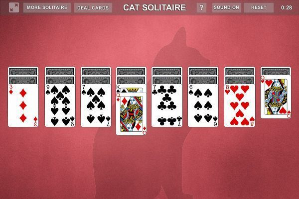 Cat Solitaire - Solitario 🕹️ 🃏 | Gioco per browser di carte - Immagine 3