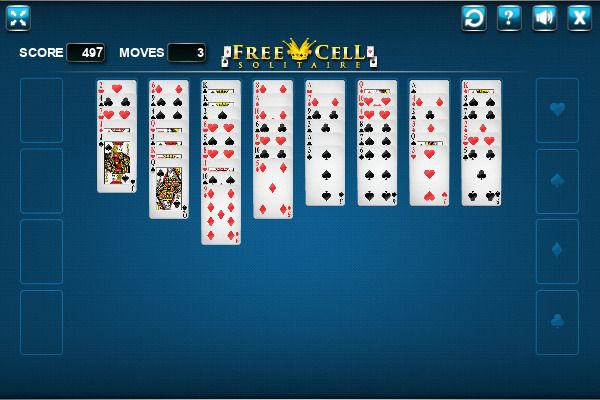 FreeCell 🕹️ 🃏 | Free Cards Logic Browser Game - Image 1