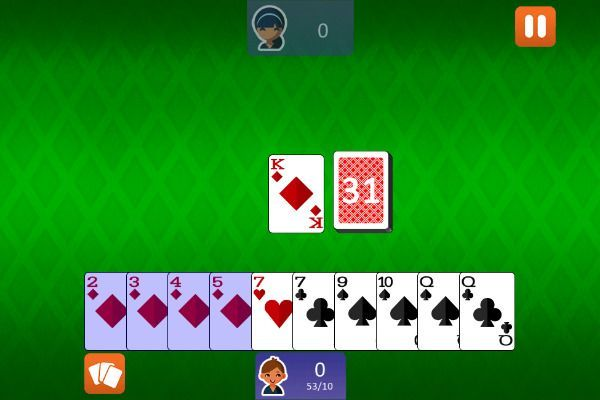 Gin Rummy Classic 🕹️ 🃏 | Free Cards Skill Browser Game - Image 2
