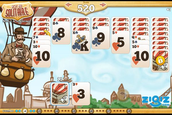 Hot Air Solitaire 🕹️ 🃏 | Gioco per browser di carte rompicapo - Immagine 2