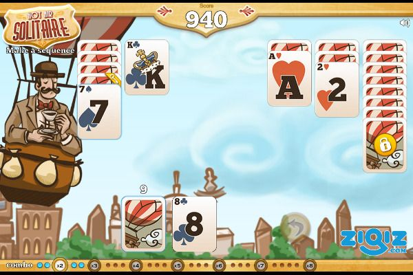 Hot Air Solitaire 🕹️ 🃏 | Gioco per browser di carte rompicapo - Immagine 3