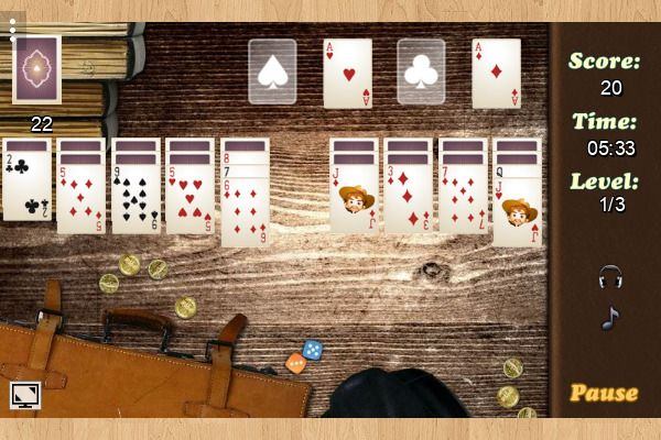 Wild West Solitaire 🕹️ 🃏 | Gioco per browser di carte casual - Immagine 2