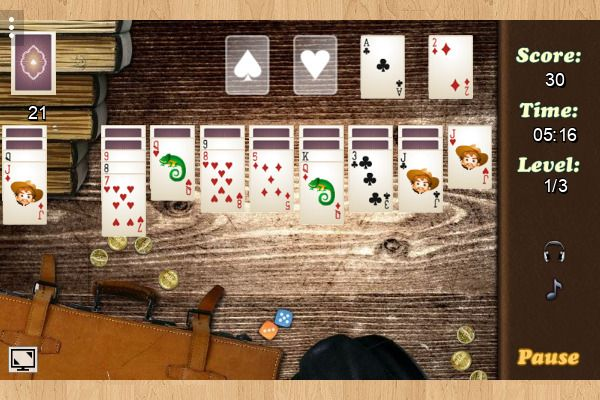 Wild West Solitaire 🕹️ 🃏 | Gioco per browser di carte casual - Immagine 3