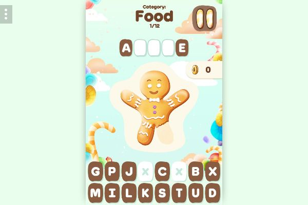 Sweet Hangman 🕹️ 🏖️ | Free Casual Puzzle Browser Game - Image 1
