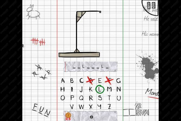 The Hangman Game Scrawl 🕹️ 🏖️ | Gioco per browser casual di logica - Immagine 1