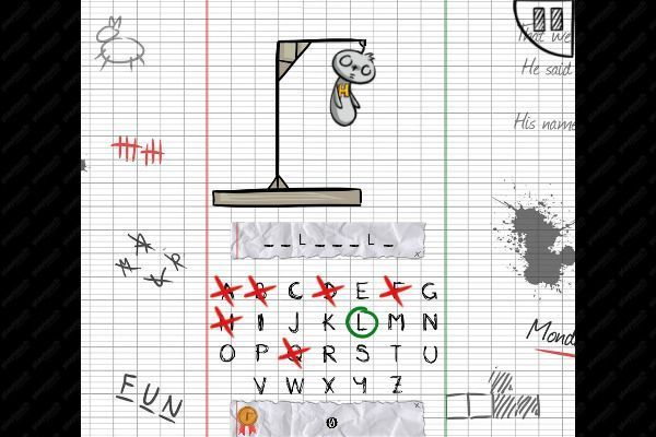 The Hangman Game Scrawl 🕹️ 🏖️ | Gioco per browser casual di logica - Immagine 2