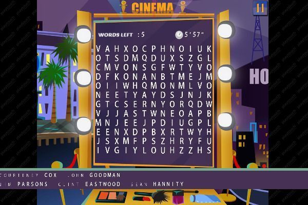 Words Search Hollywood Stars 🕹️ 🏖️ | Jeu de navigateur casual de logique - Image 3