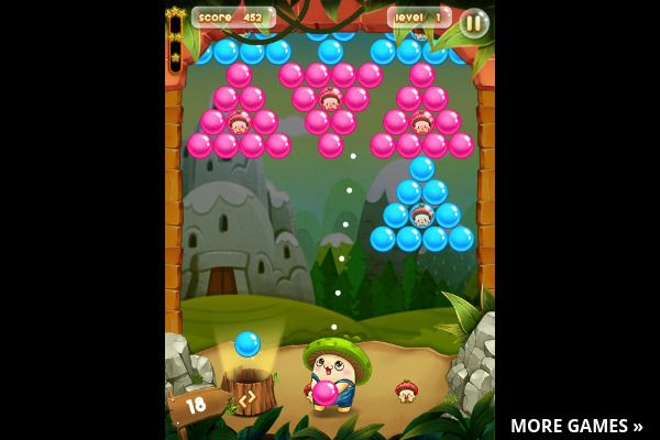 Bubble Pop Adventures 🕹️ 🍬 | Gioco per browser arcade match-3 - Immagine 1