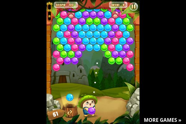 Bubble Pop Adventures 🕹️ 🍬 | Gioco per browser arcade match-3 - Immagine 3