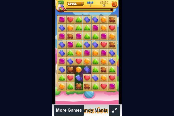Candy Mania 🕹️ 🍬 | Free Puzzle Match-3 Browser Game - Image 2
