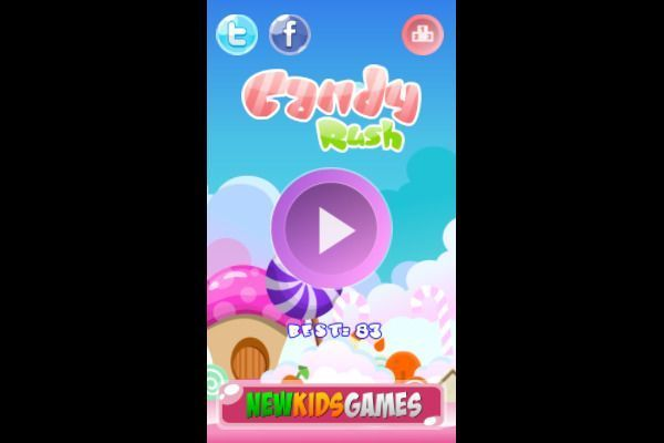 Candy Rush 🕹️ 🍬 | Puzzle Match-3 Kostenloses Browserspiel - Bild 1