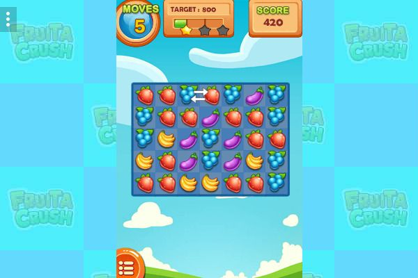 Fruita Crush 🕹️ 🍬 | Free Puzzle Match-3 Browser Game - Image 1