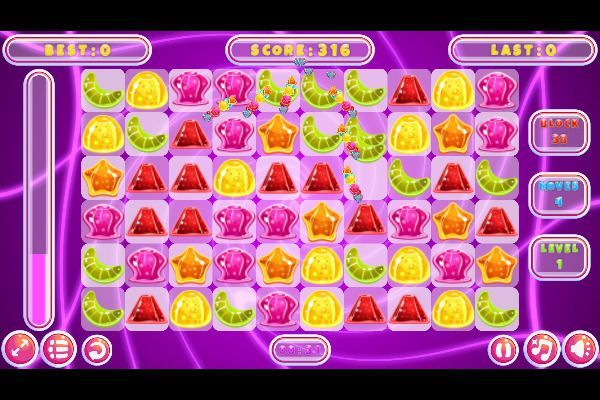 Jelly Classic 🕹️ 🍬 | Puzzle Match-3 Kostenloses Browserspiel - Bild 1