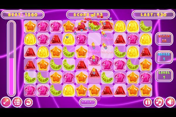 Jelly Classic 🕹️ 🍬 | Puzzle Match-3 Kostenloses Browserspiel - Bild 2