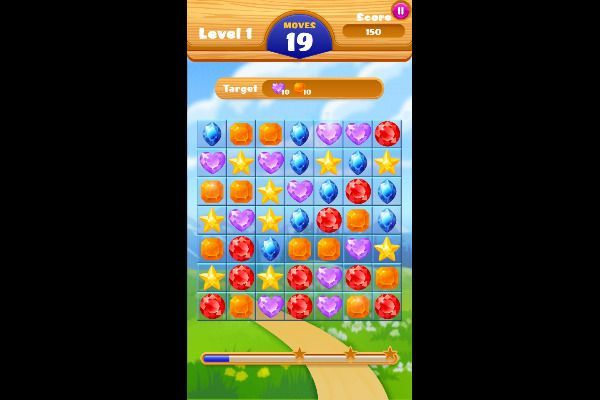 Jewel Crush 🕹️ 🍬 | Free Puzzle Match-3 Browser Game - Image 1