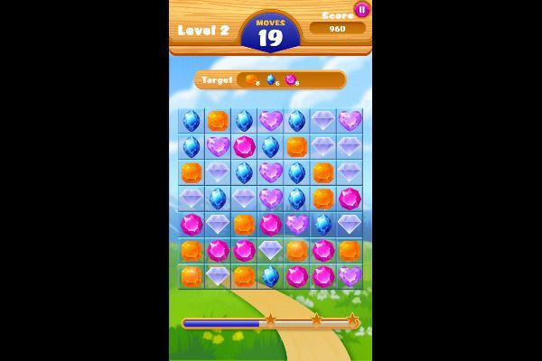 Jewel Crush 🕹️ 🍬 | Free Puzzle Match-3 Browser Game - Image 2
