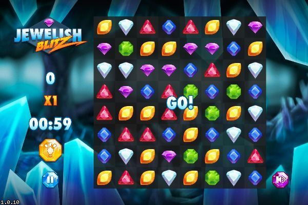 Jewelish Blitz 🕹️ 🍬 | Gioco per browser rompicapo match-3 - Immagine 1