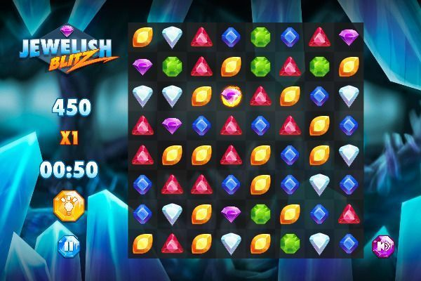 Jewelish Blitz 🕹️ 🍬 | Gioco per browser rompicapo match-3 - Immagine 2