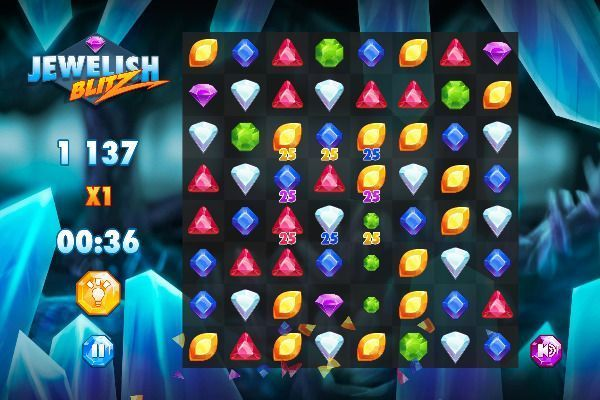 Jewelish Blitz 🕹️ 🍬 | Gioco per browser rompicapo match-3 - Immagine 3