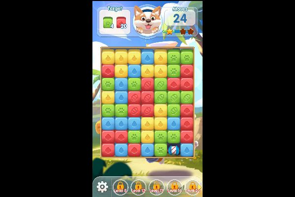 Puppy Blast 🕹️ 🍬 | Free Puzzle Match-3 Browser Game - Image 1