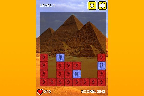Stones Of Pharaoh 🕹️ 🍬 | Gioco per browser rompicapo match-3 - Immagine 1