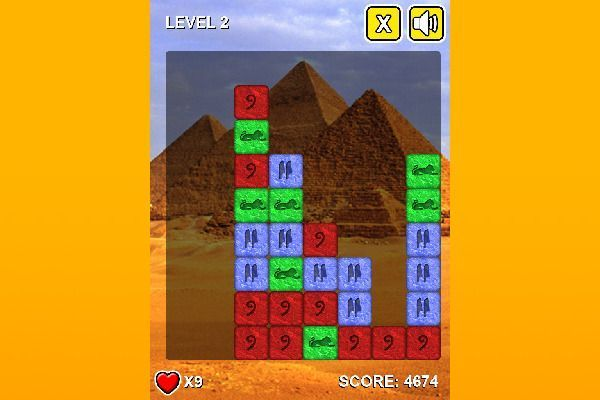 Stones Of Pharaoh 🕹️ 🍬 | Gioco per browser rompicapo match-3 - Immagine 3