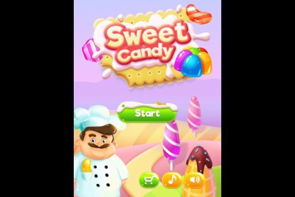 Sweet Candy 🕹️ 🍬 | Free Puzzle Match-3 Browser Game - Image 1
