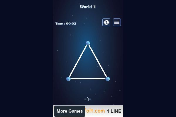 1 LINE one stroke 🕹️ 💡 | Free Puzzle Logic Browser Game - Image 1