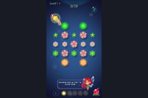 Flower saga 🕹️ 💡 | Free Puzzle Logic Browser Game - Image 1