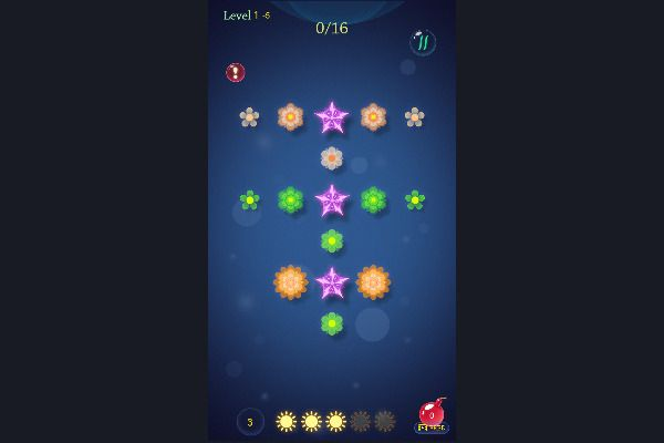 Flower saga 🕹️ 💡 | Free Puzzle Logic Browser Game - Image 2