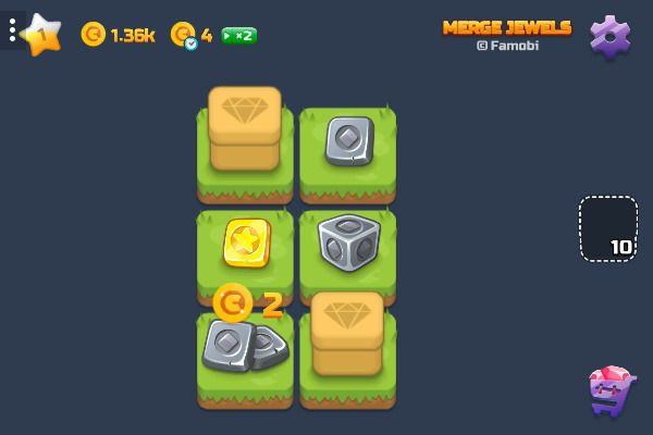 Merge Jewels 🕹️ 💡 | Puzzle Casual Kostenloses Browserspiel - Bild 1