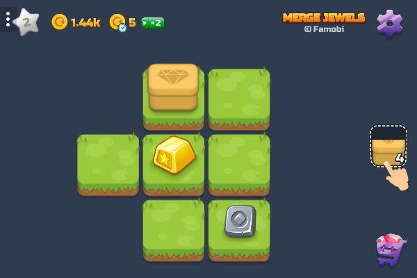 Merge Jewels 🕹️ 💡 | Puzzle Casual Kostenloses Browserspiel - Bild 2
