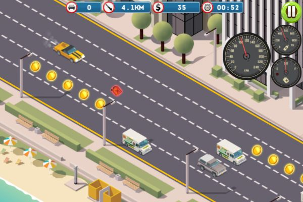 Miami Traffic Racer 🕹️ 🏁 | Free Casual Racing Browser Game - Image 1
