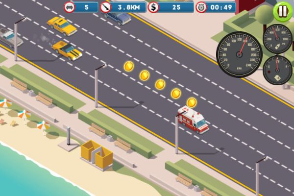 Miami Traffic Racer 🕹️ 🏁 | Free Casual Racing Browser Game - Image 2