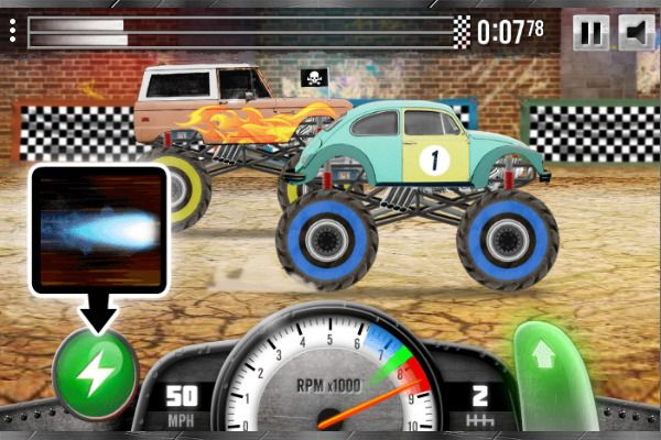 Racing Monster Trucks 🕹️ 🏁 | Free Arcade Racing Browser Game - Image 3