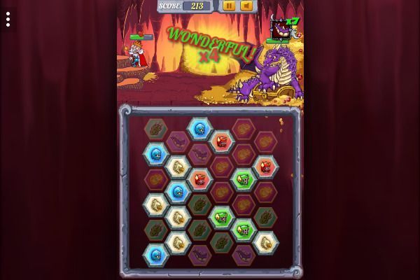 Dragon Fire and Fury 🕹️ 🏰 | Gioco per browser di strategia match-3 - Immagine 3