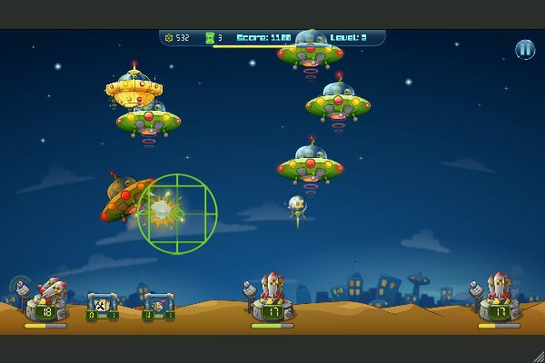 Galactic Missile Defense 🕹️ 🏰 | Free Arcade Strategy Browser Game - Image 2